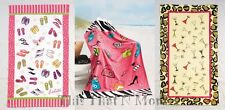 "30"" x 60"" Lolita Beach Towels Shopaholic Flip Flops Multi-tini NEW"