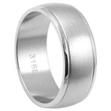 Stainless Steel Plain Classic Romantic Wedding Promise Love Band Ring Size 6-13