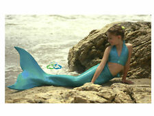 Swimmable Mermaid Tail Affordable, Fun, with Fin by the2tails Miami Teal