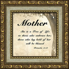 Mother Inspirational Saying Framed Gift for Appreciation Mother's Day or Any Day