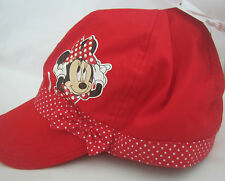 DISNEY MINNIE MOUSE Licensed Girl bakerboy cap hat red NEW age 3-5, 6-10