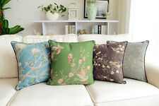 Vintage Country Floral Bird Series Cotton Linen Throw Pillow Case Cushion Covers