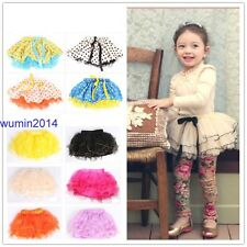 Various Color 4 Layers Baby Girl Skirt Dance Party Tutu Dress 3-12 Years
