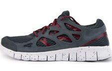 Nike Free Run +2 Ext dark grey&red running trainers 555174 061