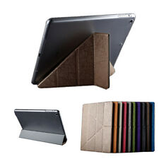 Ultra Slim PU Leather Magnetic Smart Hard Back Case Sleep/Wake For Apple iPad