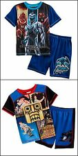 Temple Run Max Steel Boys SZ 4/5 6/7 8 2 Piece Pajama Set Shirt Shorts NWT