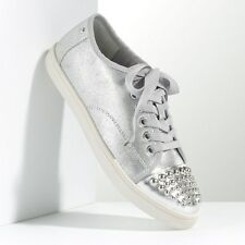 Simply VERA WANG $ 69.99 Womens Silver Studded Fashion Sneakers