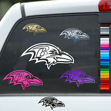 Ravens Bird Logo Vinyl Car Window Sticker Wall Decal Truck Helmet Pick Any Color