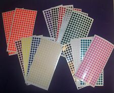1600 COLOURED DOTS 5mm STICKY CIRCLE STICKERS CODE PLANNER CHART LABELS ROUND