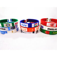 2014 FIFA Brazil World Cup Soccer Country Flag Bracelet 9 colors countries Cheap