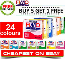 Fimo Soft 56g Polymer Modelling Clay Oven Bake Moulding 24 Colours available