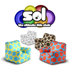 NEW! SOL KIDS BEANBAG ANYWHERE CHAIR -STUFFED INDOOR/OUTDOOR SOFT FOAM ARM CHAIR