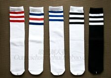 1 Pairs 16 Inch Long Tube Stripe Cotton Socks For Men And woman