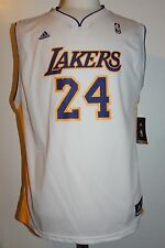 Kobe Bryant #24 Los Angeles Lakers YOUTH White Replica adidas Jersey