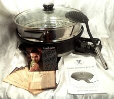 TODD ENGLISH GOURMET NONSTICK 1200-W ELECTRIC SKILLET STEAMER OTHER COLORS