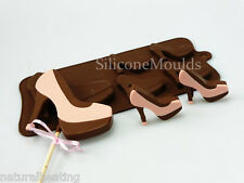 4+1 High Heeled Stiletto SHOES Chocolate Silicone Cake Lolly Mould Candy Mold