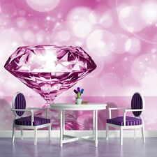 PHOTO WALL MURAL WALLPAPER WALLCOVERING HOME DECOR PINK DIAMOND JEWELLERY 407VE