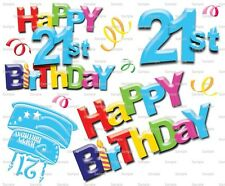Happy 21st Birthday ~ Frosting Sheet Cake Topper ~ Edible Image ~ D5972