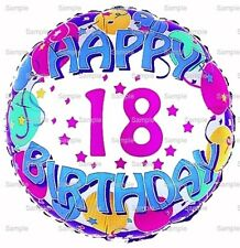 Happy 18th Birthday ~ Frosting Sheet Cake Topper ~ Edible Image ~ D6767