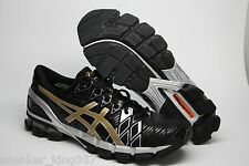 NEW Asics Gel Kinsei 5 Men's Running Shoes BLACK/GOLD/SILVER NEW IN BOX