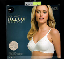 NEW EX MARKS AND SPENCER EMBROIDERED CROSSOVER SOFT BRA IN FULL CUP 4 COLOURS