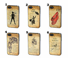 Disney Peter Pan Vintage Book Page Quote Silhouette Case Cover for iPhone