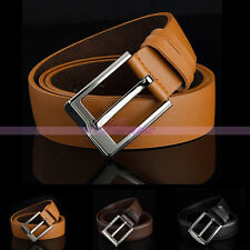 Luxury Mens Alloy Studded Pin Buckle Leather Casual Belts Waist Strap Waistband