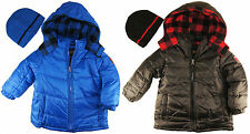 Ixtreme Boys Blue & Black Puffer Hooded Winter Jacket size 4 5 6 7
