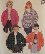 VTG 96 McCALLS 7906 Misses Lined & unlined Jackets PATTERN XS-S-M-XL UC
