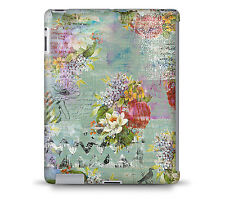 Grunged Florals on Green Tablet Hard Shell Case for iPad, Kindle, Samsung Gala..