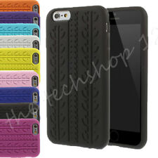 Tyre Tread Design Soft Silicone Rubber Back Skin Case Cover for Apple iPhone 6
