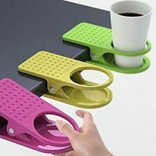 Home Office supplies Drink Cup Coffee Mug Desk Lap Folder Table Holder Clip DIY