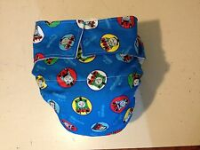 Adult Baby Diaper, Thomas the Train Engine, Fully Functional AIO, Extra Padding