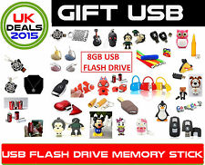 CHEAP NOVELTY 8GB USB FLASH DRIVE MEMORY STICK GIFT HIM HER PRESENT CHRISTMAS UK