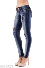 ELLA JEANS 96034S skinny,stretch Junior Patched Denim Long Pants Woman Bottom