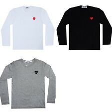 """A COMME Des GARCONS CDG """"PLAY RED HEART"""" UNISEX'S LONG SLEEVE T-SHIRT"""