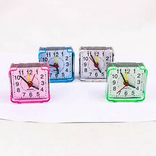 Vivid Colour Movement Quartz Alarm Clock Plastic Table Mini Portable Watch A0223