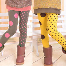 SZ3-8Y Girl Soft Polka Cute AB Dot Kid Toddler Tight School Leggings Child Pants