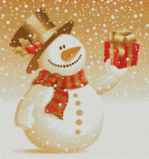 Cross stitch chart, pattern, Christmas, Snow, Man, Xmas, Snowman