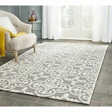 Safavieh Hand-Tufted Chatham GREY / IVORY Wool Area Rugs - CHT730D