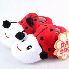 Baby Boy Girls Animal Pattern Cotton Shoes Newborn Anti Slip Warm Socks 0-1Y E20