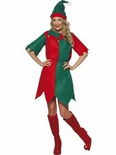 LADIES ELF FANCY DRESS COSTUME CHRISTMAS PIXIE SANTA'S HELPER PARTY TUNIC 21474
