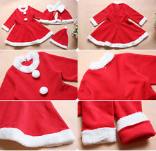 Baby Kids Christmas Girl Outfits Santa Claus Xmas Party Costume Sets For Age1-4Y