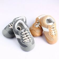 Sliver Golder Sport Walking Skidproof Soft Outsole Cute Baby Boy Toddler Shoes