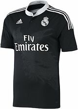 Real Madrid Authentic Black 3rd Away Shirt 2014/2015 Ronaldo/James/Bale S/M/L/XL
