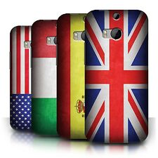 Phone Case Hard Back Cover/Skin Sleeve for HTC One M8 / Country Printed Flags