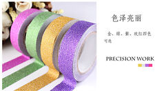 5M Glitter Washi Tape Paper Self Adhesive Stick On Sticky Craft DIY Decorative