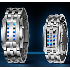 mens Ladies His and Hers Binary Matrix LED Sports water resistant wrist watch