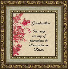 Grandmother Inspirational Saying Framed Gift Appreciation For Mother's Day