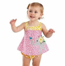 New Mud Pie Baby Girls SAFARI ELEPHANT ALL-IN-ONE Dress Sizes: 0-6 9-12 Months